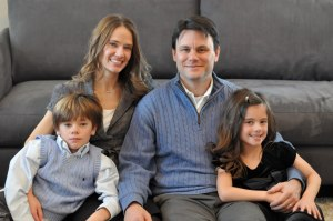 Dr. Aimee Bernard with her husband Dr. Tim Bernard and their two children, 8-year-old twins Jack and Sawyer