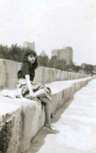My mother pictured as a teenager on the Chicago lakefront in 1945.