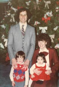 My family on Christmas in 1984, shortly after I returned home from the hospital.